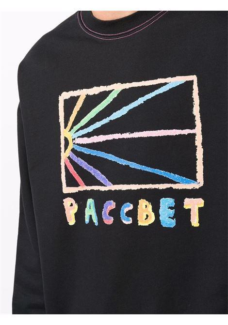 felpa con logo uomo nera in cotone RASSVET | Felpe | PACC9T0211