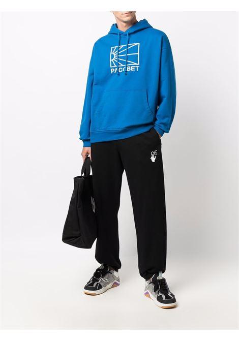 logo hoodie man blue in cotton RASSVET | Sweatshirts | PACC9T0252