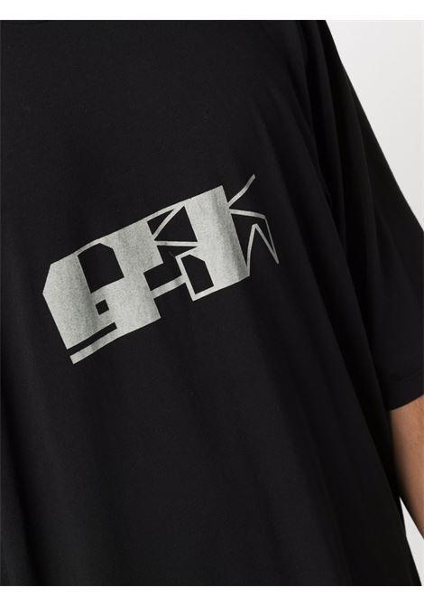t-shirt jumbo uomo nera in cotone RICK OWENS DRKSHDW | T-shirt | DU02A3274 RNEP40961