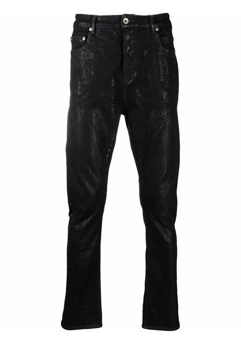 denim detroit cut man black in cotton RICK OWENS DRKSHDW | Trousers | DU02A3366 SBF09