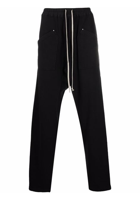 sport trousers man black in cotton RICK OWENS DRKSHDW | Trousers | DU02A3385 F09