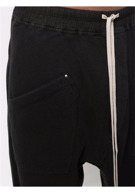 pantaloni sportivi uomo neri in cotone RICK OWENS DRKSHDW   Pantaloni   DU02A3385 F09