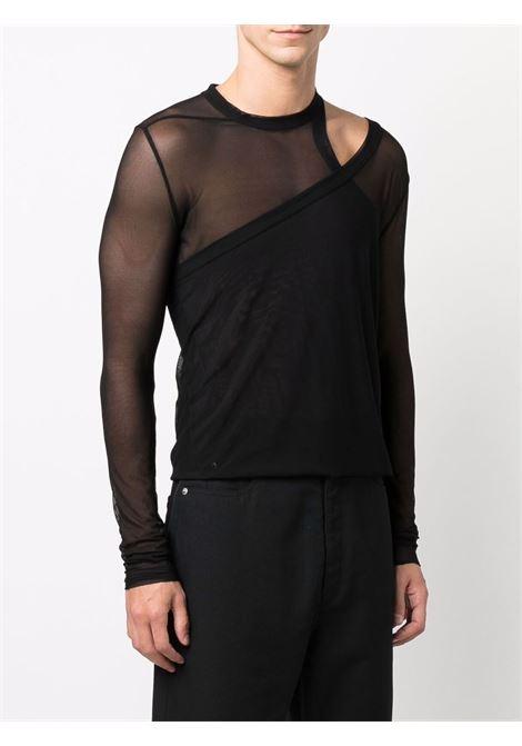 short banana t-shirt man black RICK OWENS | T-shirts | RR02A5207 TU09