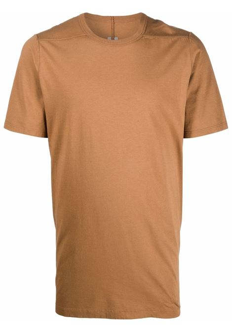 level t man beige in cotton RICK OWENS | T-shirts | RU02A5264 JA24