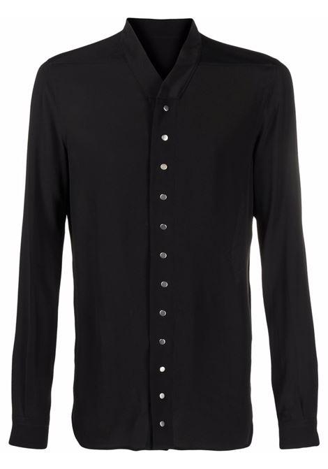 silk blended shirt man black RICK OWENS | Shirts | RU02A5290 CC09