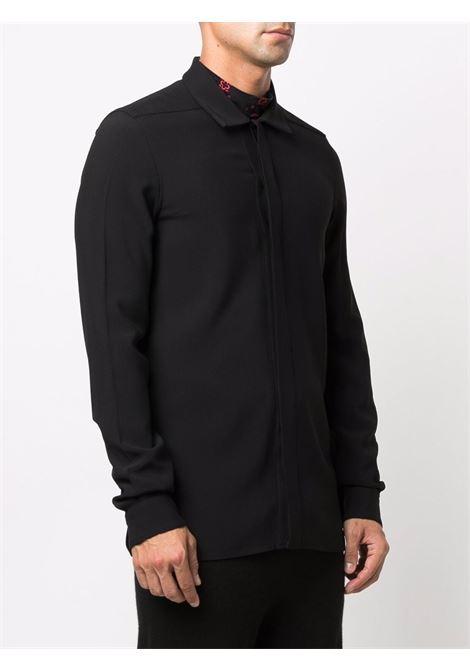 viscose shirt man black RICK OWENS | Shirts | RU02A5299 HY09