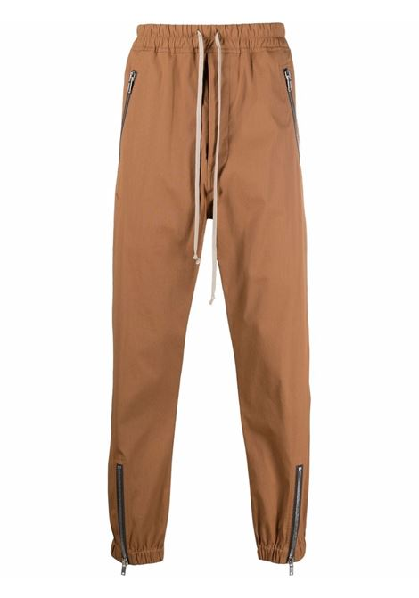 pantaloni sportivi uomo marroni in cotone RICK OWENS | Pantaloni | RU02A5370 TE24