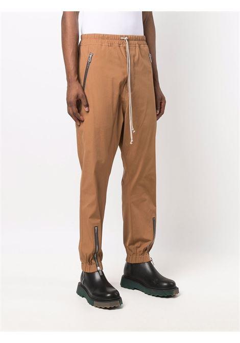 pantaloni sportivi uomo marroni in cotone RICK OWENS   Pantaloni   RU02A5370 TE24