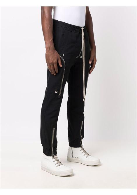 cargo bauhaus man black in cotton RICK OWENS | Trousers | RU02A5377 CVR09