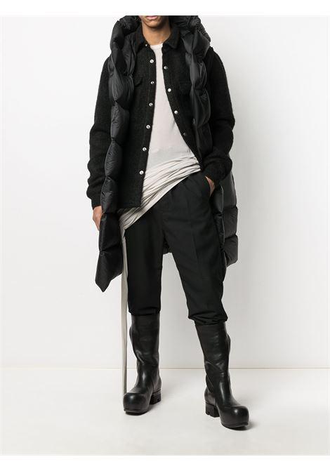 drop crotch pants man black in cotton RICK OWENS   Trousers   RU02A5395 CVR09