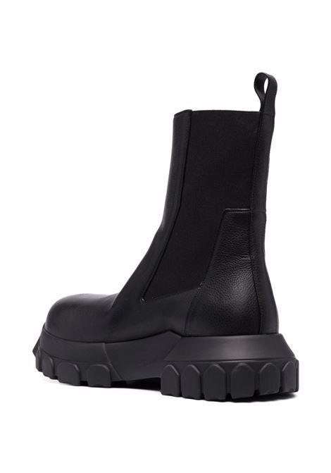 stivali bozo tractor uomo neri in pelle RICK OWENS | Stivali | RU02A5881 LDE99