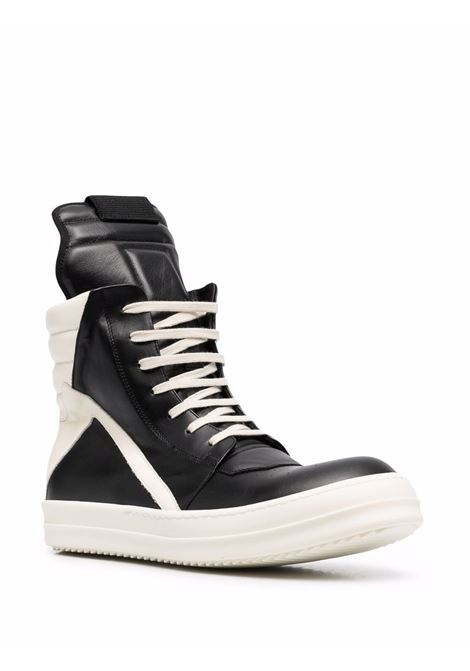 geobasket snakers man black in leather RICK OWENS | Sneakers | RU02A5894 LPO9111