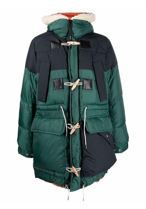padded coat man bicolor in wool SACAI | Coats | 21-02643M552