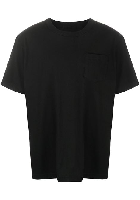 pocket t-shirt man black in cotton SACAI | T-shirts | SCM-034001
