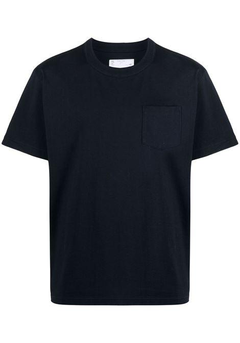 pocket t-shirt man blue in cotton SACAI | T-shirts | SCM-034201