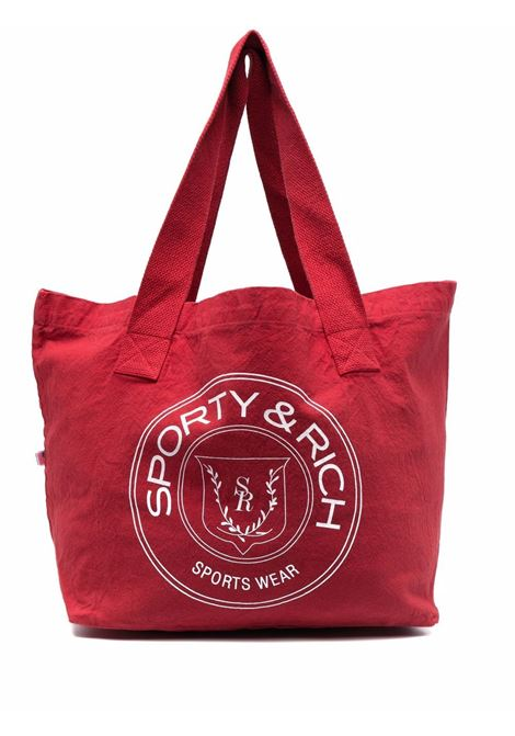 monaco tote bag unisex red in tissue SPORTY & RICH | Bags | AC262WH