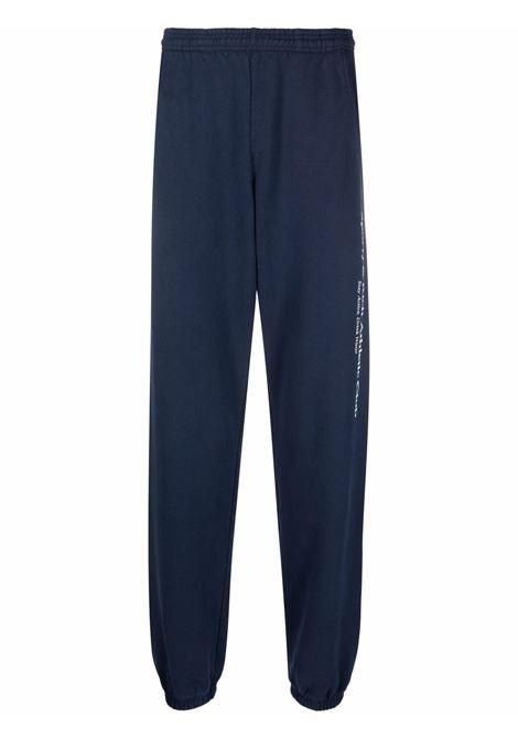 pantaloni sportivi uomo blu in cotone SPORTY & RICH | Pantaloni | SW262NA
