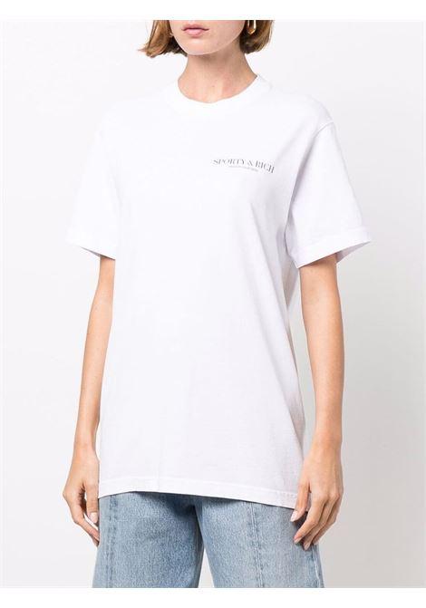 t-shirt california unisex bianca in cotone SPORTY & RICH | T-shirt | TS262WH
