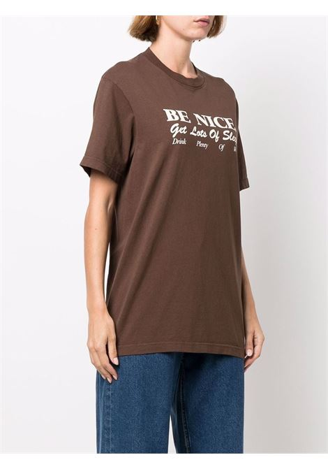 t-shirt be nice unisex marrone in cotone SPORTY & RICH   T-shirt   TS263CH