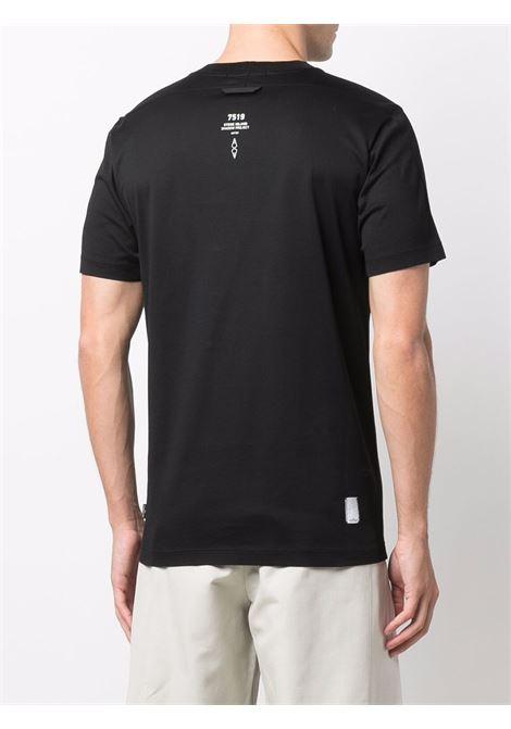 logo t shirt man black in cotton STONE ISLAND SHADOW PROJECT | T-shirts | 751920105V1029