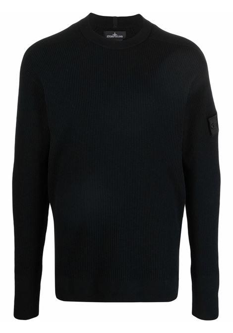 maglione con applicazione uomo nero STONE ISLAND SHADOW PROJECT | Maglieria | 7519505A1V1029