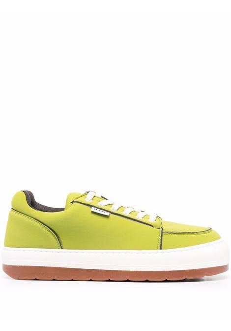 sneakers dreamy uomo verdi SUNNEI | Sneakers | FW21D01 LEATHERACID GREEN