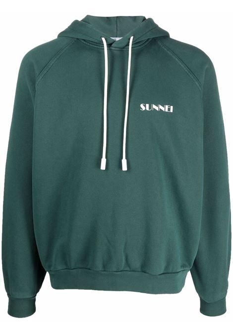 logo hoodie man green in cotton SUNNEI | Sweatshirts | SNF1XF01AP JE132DARK GREEN