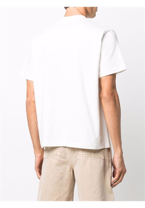 t-shirt con logo uomo bianca in cotone SUNNEI | T-shirt | SNF1XH02AP JE130OFFWHITE