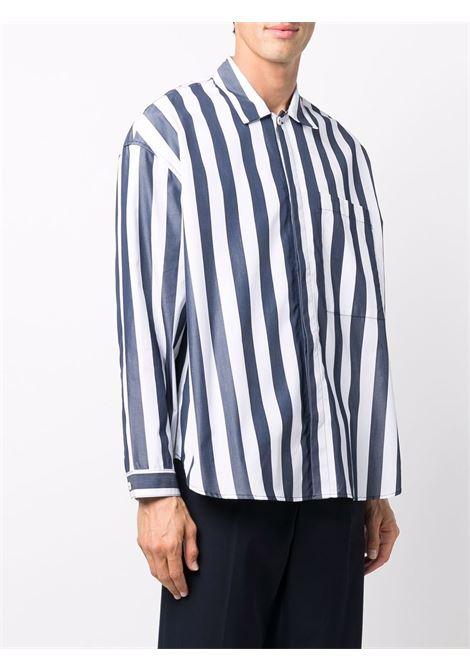 camicia a righe uomo bianca in cotone SUNNEI   Camicie   SNF1XS03BP TR002OFFWHITE/BLUE STRIPES