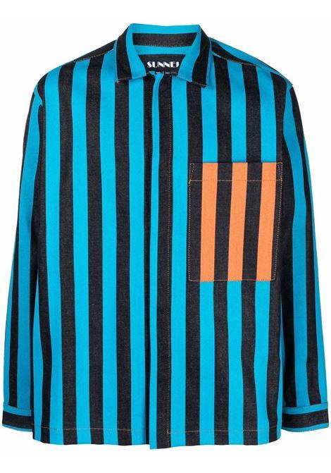 striped shirt man multicolor in cotton SUNNEI | Shirts | SNF1XS06AP TR081MULTICOLOR STRIPES