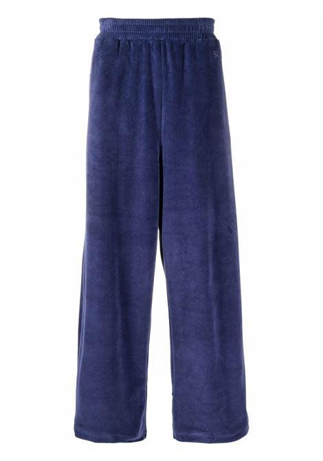 elastic pants man blue in cotton SUNNEI | Trousers | SNF1XT02AP JE180DARK BLUE