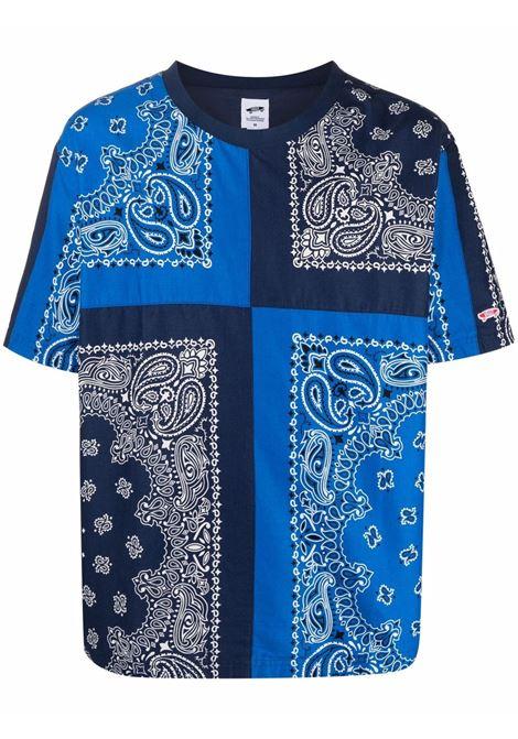 t-shirt paisley uomo blu in cotone VANS VAULT X BEDWIN | T-shirt | VN0A4VLNZE51