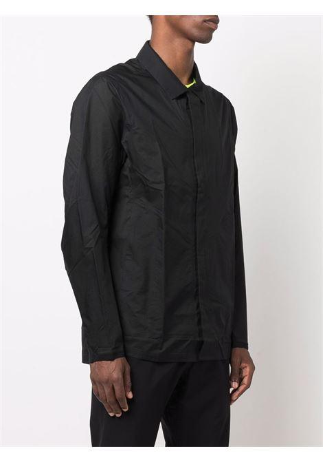giacca camicia uomo nera in nylon VEILANCE | Camicie | 45883BLACK