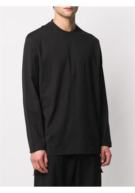 t-shirt manica lunga uomo nera in cotone Y-3 | T-shirt | FN3361BLACK