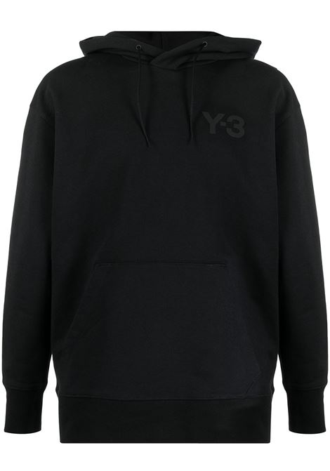 felpa con logo uomo nera in cotone Y-3 | Felpe | GV4198BLACK