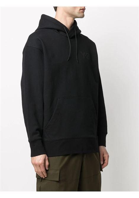 logo hoodie man black in cotton Y-3 | Sweatshirts | GV4198BLACK
