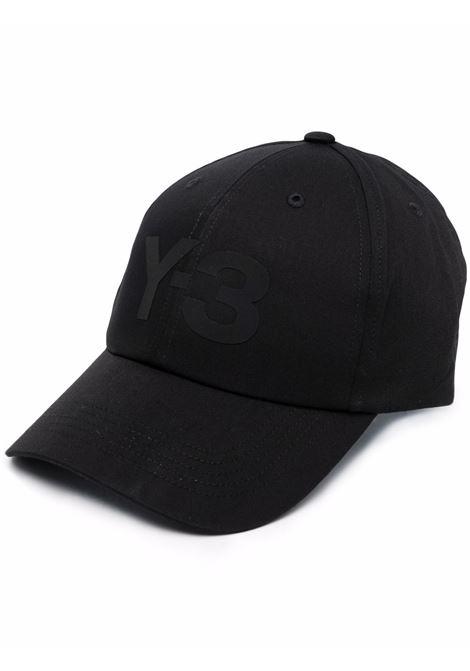 cappello con logo uomo nero in cotone Y-3 | Cappelli | HA6530BLACK