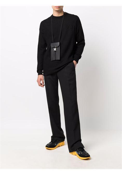 crew neck sweater man black in wool Y-3   Sweaters   HB2783BLACK