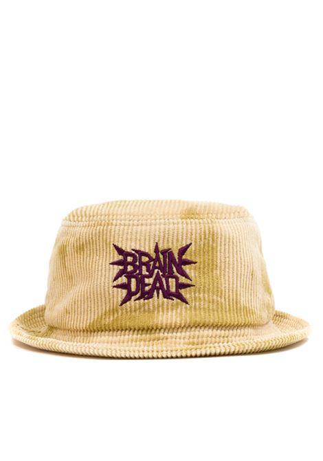 cappello spikey uomo gold in cotone BRAIN DEAD | Cappelli | F21H02001917GOLD