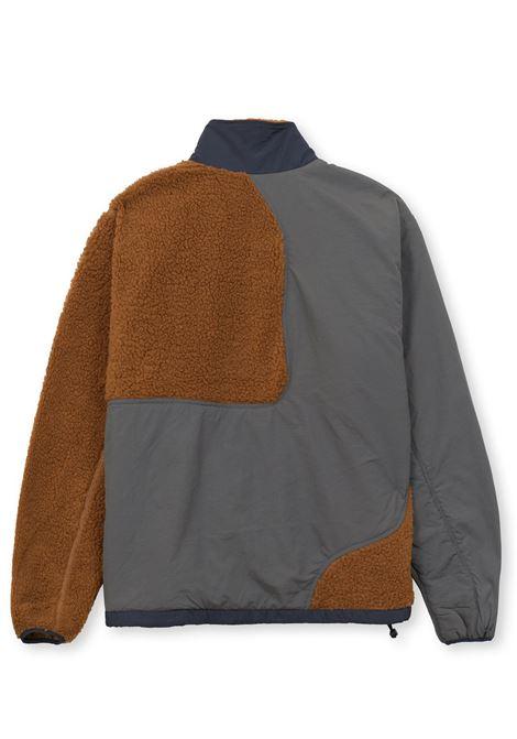 giacca sherpa uomo marrone e grigia BRAIN DEAD | Giacche | F21O09001878BROWN