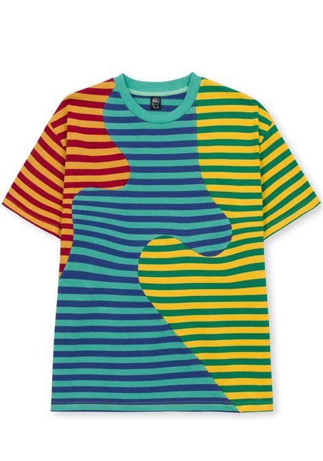 t-shirt stripe uomo multicolor in cotone BRAIN DEAD | T-shirt | F21T00001828GREEN