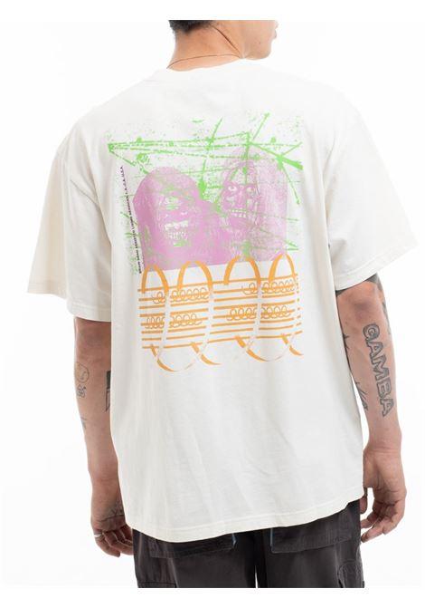 t-shirt fourth dimension uomo natural in cotone BRAIN DEAD | T-shirt | F21T00001941NATURAL