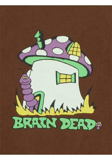 felpa mushroom house uomo marrone in cotone BRAIN DEAD | Maglieria | F21T10001945BROWN