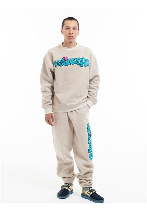 slime reverse crewneck man natural in cotton BRAIN DEAD | Sweaters | F21T10002196NATURAL