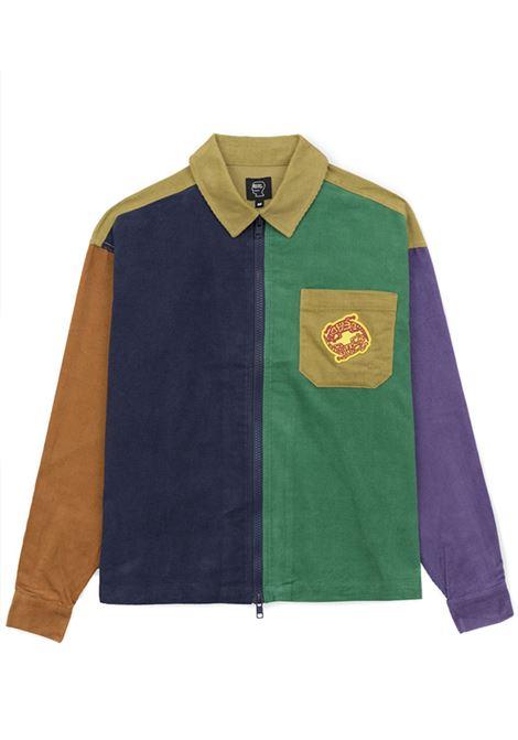 camicia con zip uomo multicolor in cotone BRAIN DEAD | Camicie | F21T16001891MULTIPLE