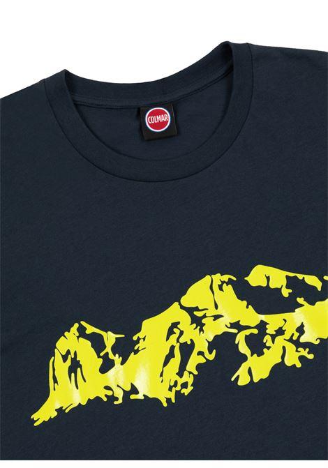 t-shirt with print man black in cotton COLMAR A.G.E. | T-shirts | CT10796