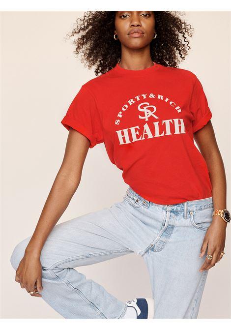 T-shirt ball game Rossa Unisex Cotone SPORTY & RICH | T-shirt | TS163SR