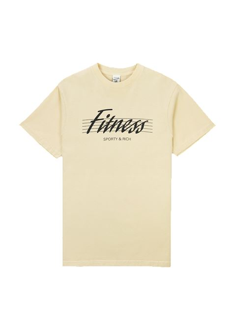 t-shirt 80's fitness Beige Unisex Cotone SPORTY & RICH | T-shirt | TS164CP