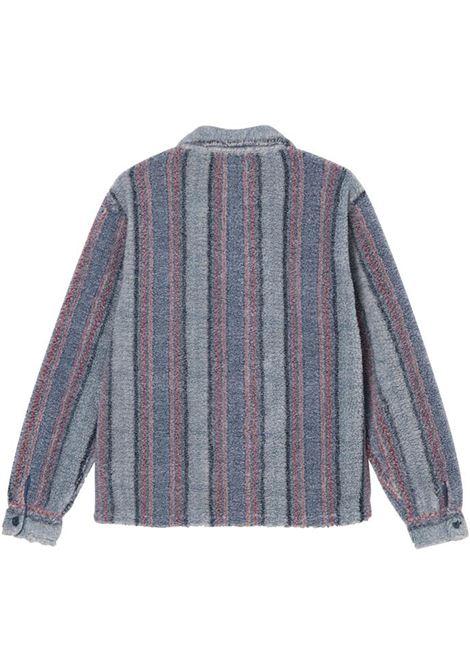 stripe sherpa shirt man multicolor  STUSSY | Shirts | 1110197BLUE