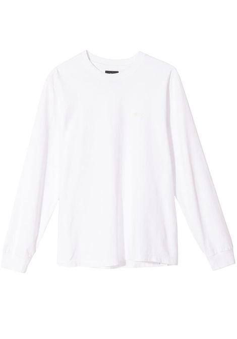 long sleeve t-shirt man white in cotton STUSSY | T-shirts | 1140242WHITE